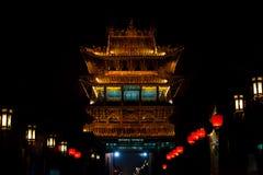 forntida kinesisk nyckelnattpingyao royaltyfri foto