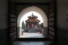 Forntida kinesisk paviljong Fotografering för Bildbyråer