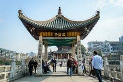 Forntida kinesisk paviljong Royaltyfri Foto