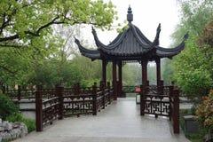 Forntida kinesisk paviljong Royaltyfri Bild