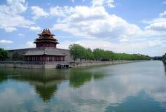 forntida kinesisk stadsvägg Arkivbilder