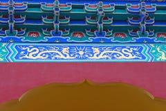 Forntida kinesisk takfot Royaltyfri Foto