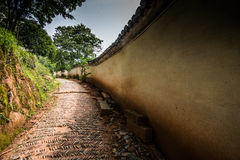Forntida kinesisk vägg Arkivbild
