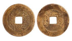 forntida kinesisk valuta Arkivfoton