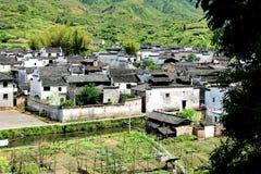forntida kinesiska byar Arkivbild