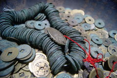 forntida kinesiska mynt Royaltyfri Bild
