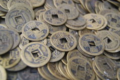 forntida kinesiska mynt Royaltyfria Foton
