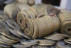 forntida kinesiska mynt Royaltyfri Fotografi