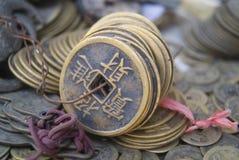forntida kinesiska mynt Arkivbilder