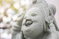 Forntida kinesiska stencarvings arkivfoto
