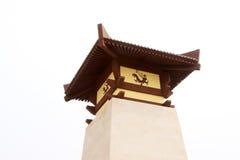 Forntida kinesiska traditionella byggnader Fotografering för Bildbyråer