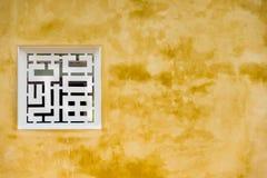 Forntida kinesiskt fönster fotografering för bildbyråer