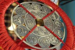 forntida kinesiskt mynt fotografering för bildbyråer
