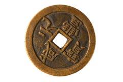 forntida kinesiskt mynt Arkivfoton