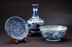 forntida kinesiskt porslin arkivbild