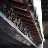 Forntida kinesiskt tak Arkivbild