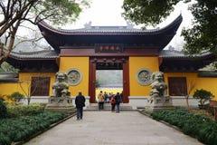 forntida kinesiskt tempel royaltyfria bilder