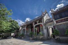 Forntida kinesträdgårdlägenheter Arkivbild