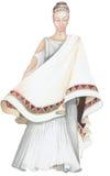forntida klänninglady Arkivbilder