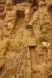 Forntida kloak med rektangulär form Royaltyfria Bilder