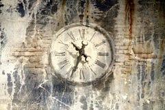 Forntida klocka för Grunge Arkivfoton