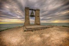 Forntida klocka på solnedgången Fotografering för Bildbyråer