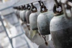 Forntida Klocka på templet Trai-Mit Royaltyfri Bild