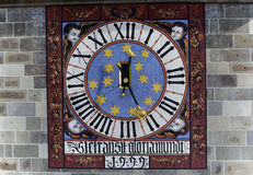 forntida klockadetalj Royaltyfri Bild