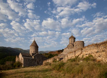 Forntida kloster av Tatev i Armenien Royaltyfri Fotografi