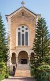 forntida kloster för facadeisrael latrun Arkivbilder