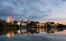 Forntida kloster i Moskva, Ryssland Arkivbild