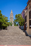 Forntida kloster San Barnardin, Portoroz, Slovenien Royaltyfri Bild