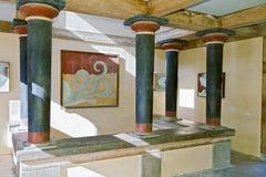 Forntida Knossos slott på Crete, Grekland Royaltyfri Bild