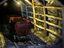 Forntida kolgruva Arkivbild