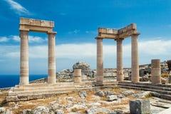 Forntida kolonner Arkivfoto
