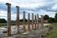 Forntida kolonner Arkivfoton