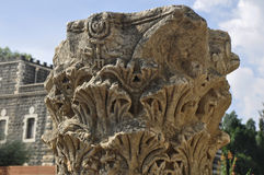 forntida kolonner i Israel Arkivbilder