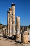 Forntida kolonner i selcuk Arkivfoto