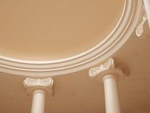 forntida kolonnkorridor stock illustrationer