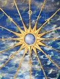 forntida kompass Arkivbild