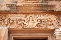 Forntida konst och kultur på den Phanom ringde nationalparken i norr öst av Thailand royaltyfri fotografi