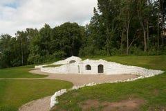 forntida konstgjorda grottoes Royaltyfri Foto