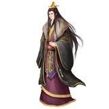 Forntida konstverk för kinesiskt folk: Rich Young Gentle Man Arkivfoton