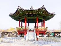 Forntida koreansk byggnad i Sydkorea royaltyfria foton