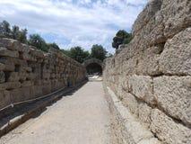 forntida korridor royaltyfria foton