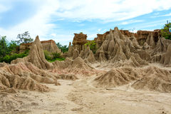 Forntida korrosion av jord på SaobullerNa Noi, Thailand Arkivbilder