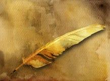 forntida kortfjäderpenna royaltyfri illustrationer