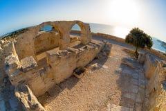 Forntida Kourion Limassol område cyprus Arkivbilder