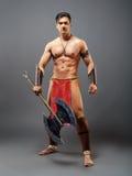 forntida krigare Arkivfoto