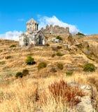 forntida kristen fästning för amberd Royaltyfri Fotografi